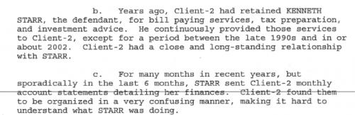 Extract from DOJ complaint v Ken Starr