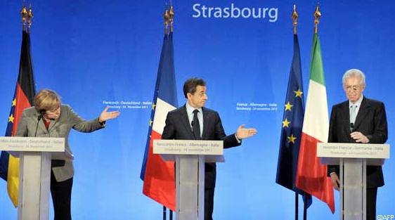 Merkel, Sarkoxy and Monti